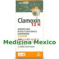 12Hr Clamoxin Junior SUSP 50 ml 400/57/5 mg
